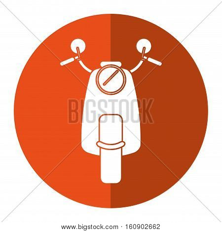 scooter motrocycle classic transport orange circle vector illustration eps 10