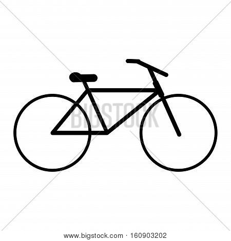 silhouette bicycle transport active sport vector illustration eps 10