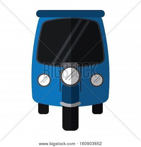 blue motor rickshaw transport tricycle vector illustration eps 10