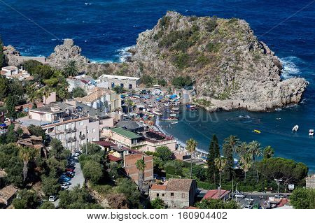 Taormina is Sicily's most famous upmarket and expensive resort famous for it's high quality beaches.