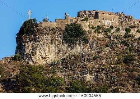 Madonna Della Rocca Church In Taormina, Sicily, Italy.