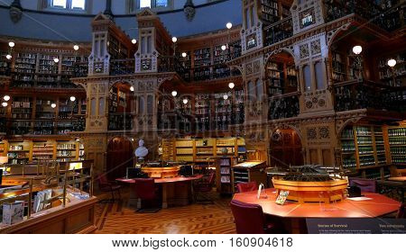 Ottawa, Canada. November 14Th 2016 - Library Of Parliament In Ottawa - Ontario, Canada