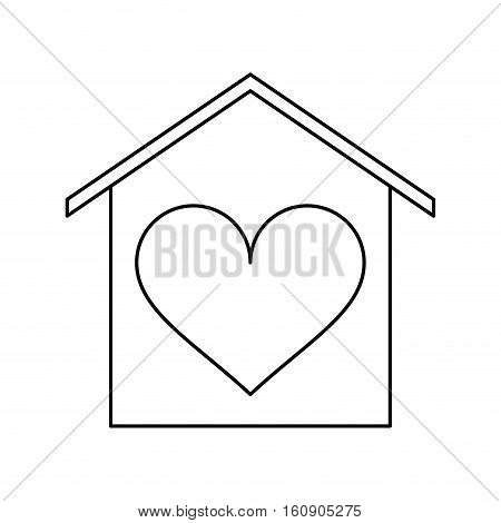 house love heart beauitful card outline vector illustration eps 10
