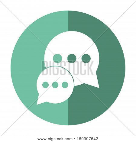 bubble talk dialog chatting social media green circle shadow vector illustration eps 10