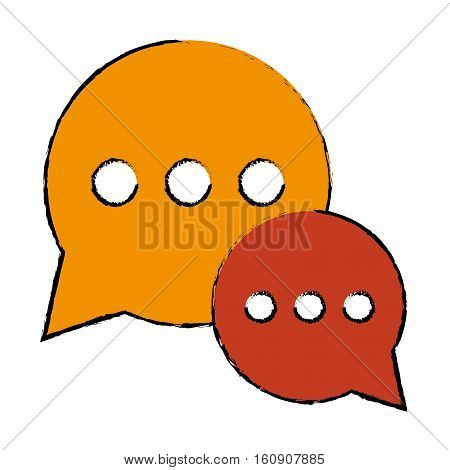 drawing bubble talk dialog chatting social media vector illustration eps 10