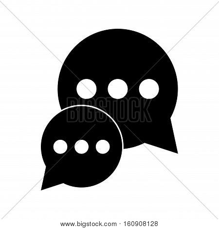 silhouette bubble talk dialog chatting social media vector illustration eps 10
