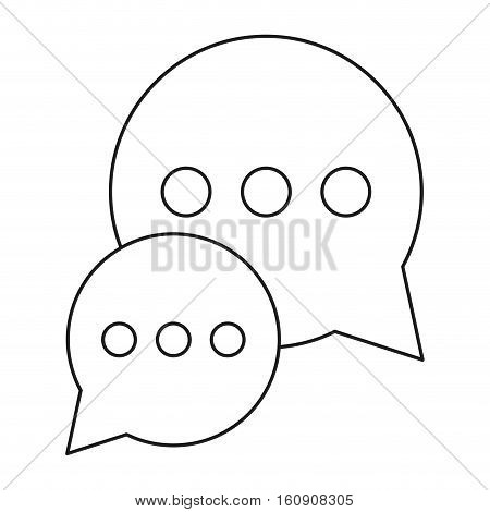 bubble talk dialog chatting social media outline vector illustration eps 10