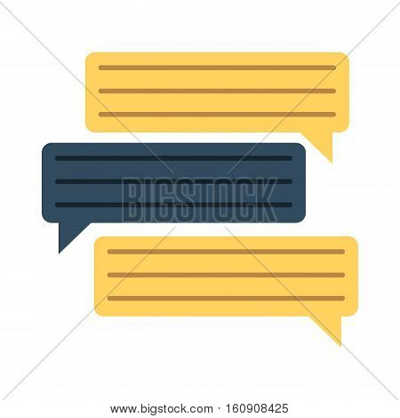 bubbles speech dialog speak text vector illustration eps 10