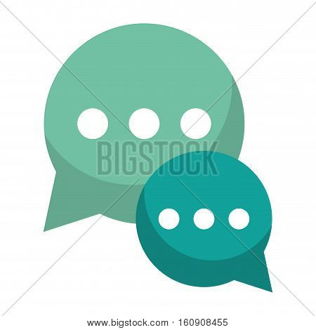 green bubble talk dialog chatting social media vector illustration eps 10