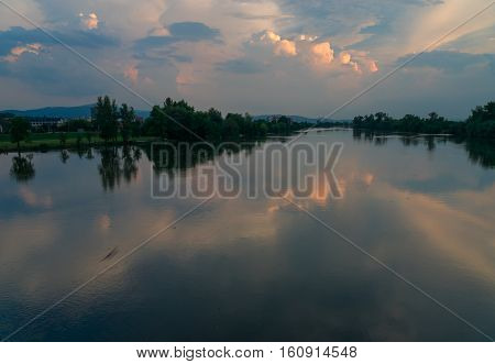The river vah is a river in Slovakia that runs through the town of Trencin.