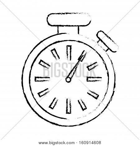 chronometer time device icon over white background. vector illustration