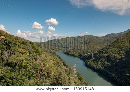 The Bhumipol Dam an arch gravity type dam on the Ping River, Northern Thailand Projects initialted by His Majesty The King