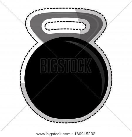 kettlebell weight icon image vector illustration design