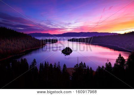 Sunrise At Emerald Bay