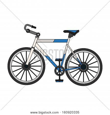 Bike vehicle icon. Bicycle cycle healthy lifestyle and sport theme. Isolated design. Vector illustration