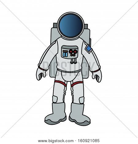 Astronaut icon. Spaceman cosmonaut pilot space and science theme. Isolated design. Vector illustration