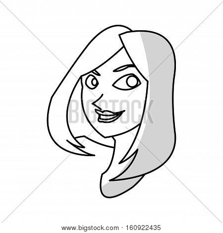 Woman cartoon icon. Girl female avatar person people and human theme. Isolated design. Vector illustration