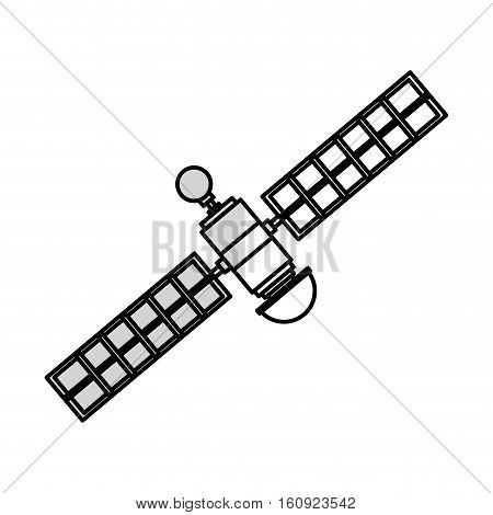Satellite icon. Broadcast internet technology and communication theme. Isolated design. Vector illustration