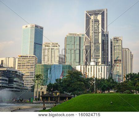 Cityscape In Kuala Lumpur, Malaysia