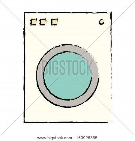 washer appliance equipment icon vector illustration graphic design