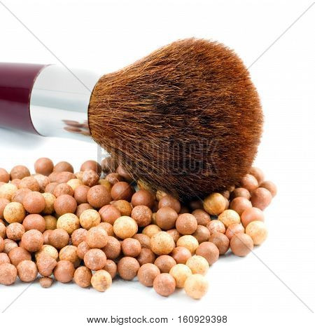Cosmetic Face Powder And Brush