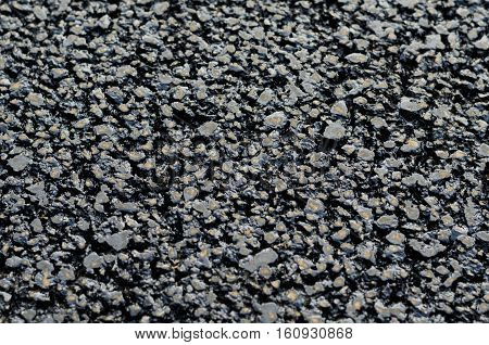 Background of new and fresh black asphalt tar
