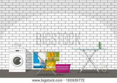 Illustration of different household utensils, vector grafic