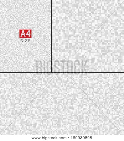 Gray Technology Pixel Backgrounds, A4, Horizontal, Vertical, Square Paper Size.