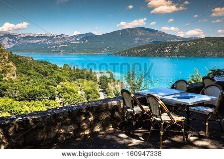 Lac de Sainte-Croix Lake of Sainte-Croix Gorges du Verdon Provence France