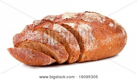 Brot, isolated on white