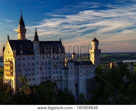 Schloss Neuschwanstein is a very popular castle in Bavaria, Germany.