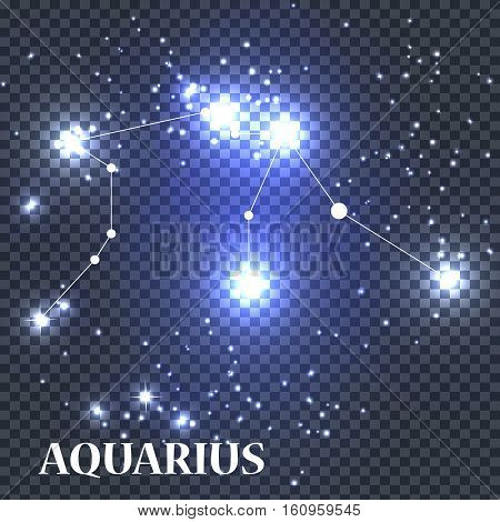 Symbol Aquarius Zodiac Sign. Vector Illustration EPS10