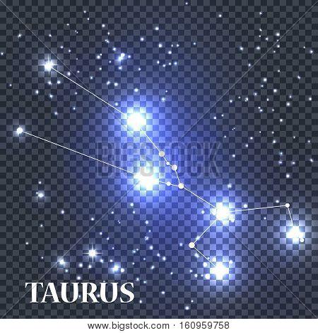 Symbol Taurus Zodiac Sign. Vector Illustration EPS10