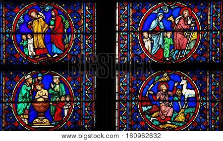 Stained Glass - Life Of Saint Joseph