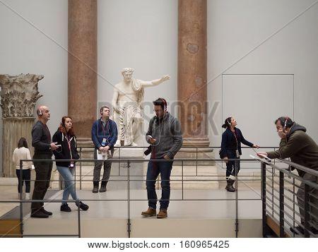 Tourists In Pergamon Museum