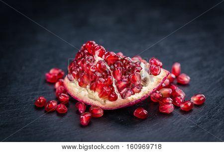 Slate Slab With Pomegranate