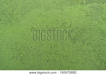 Stucco light green wall background or texture.Plaster, plaster texture, plaster background. Light green wall, light green background.Color plaster. Concrete, concrete background.