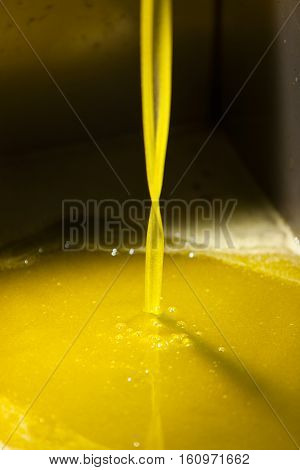 Extra Virgin Olive Oil Pouring