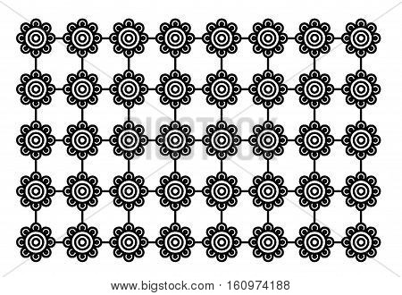 Floral patterns mix and star shapes arithmetic.