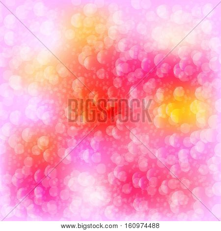 Abstract light glowing magic color babbles pattern, bokeh, background