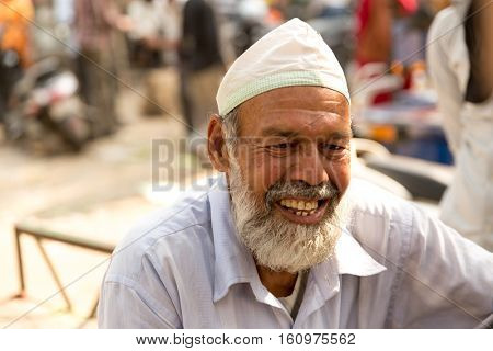 Bearded senior muslim