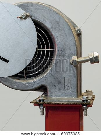 Centrifugal fan for supplying air to the solid fuel