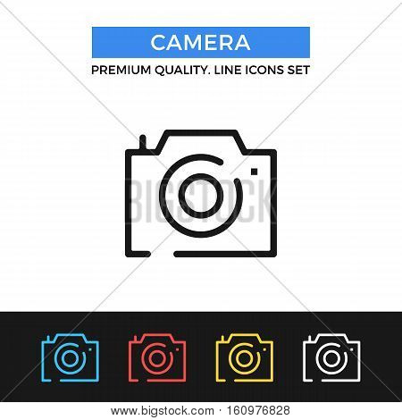 Vector camera icon. Premium quality graphic design. Modern signs, outline symbols collection, simple thin line icons set for websites, web design, mobile app, infographics