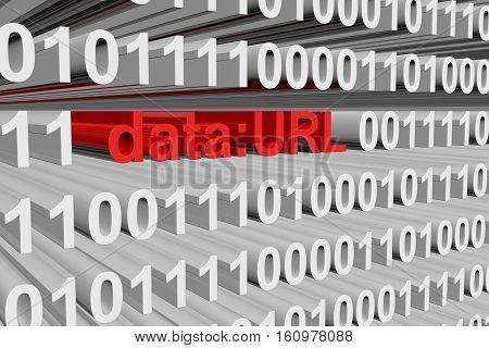 URL data as binary code 3D illustration