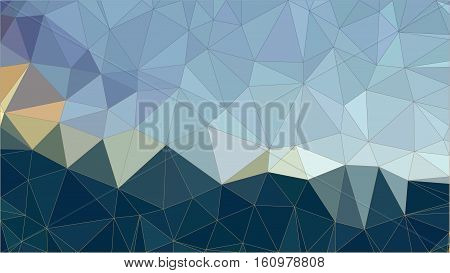 Low Poly pattern of irregular colorful triangles in blue and dark blue shades with gradiented strokes. Vector illustration