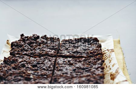 Chocolate Fudge With Nuts, Each Piece Is Packed Separately