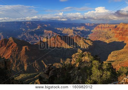 Startling View Of Grand Canyon From South Rim, Arizona, United States