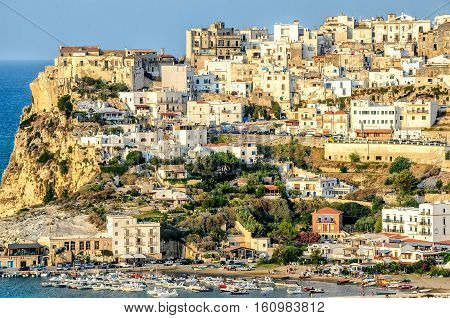peschici gargano italy apulia sea perched village