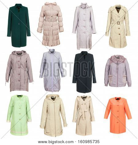 Coat Collection On The Background