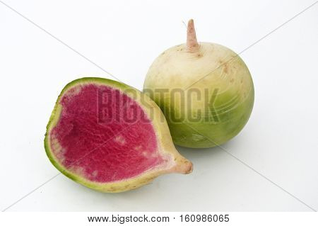 Suitable for food site advertisements radish, turnip, watermelon radish visual stock pictures